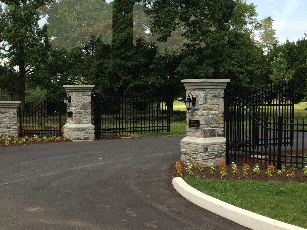 The front gates to the Hershey Estate