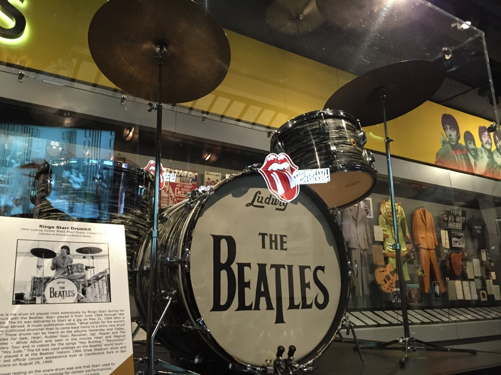 The drums used by Ringo when the Beatles performed in the 60's.